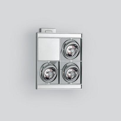 Cestello with 4 bodies, incluido grupo alimentación electrónico 3x35W C dimmable R 111 (Reflector of alta eficiencia)