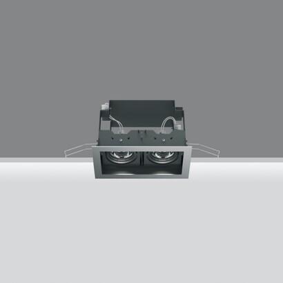 Deep Frame Empotrable Orientable de 2 Cuerpos ópticos 2x35W HI PAR (MR16) (Reflector de alta eficiencia)