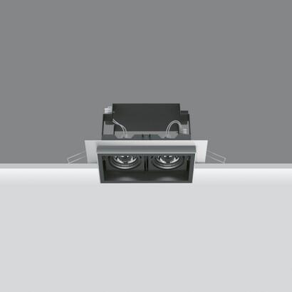 Deep Minimal Empotrable Orientable de 2 Cuerpos ópticos 2x35W HI PAR (MR16) (Reflector de alta eficiencia)