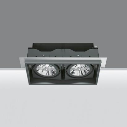 Deep Minimal Empotrable Orientable de 2 Cuerpos ópticos 2x35/70W HIT (C dimmable T)