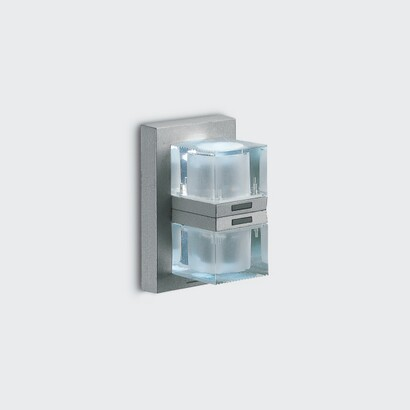 Glim Cube Wall Lamp singola up/down light 2x1w white 4200K S/S