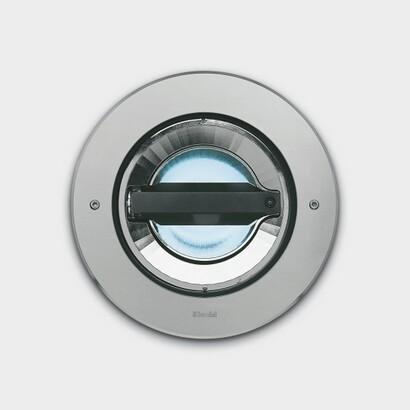 Light Up Light Recessed circular óptica simétrica flood adjustable 0° 15°.