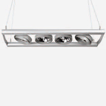 Serie Tandem luminaire Suspension Vertical 58cm G5,3 QR-111 3x100w