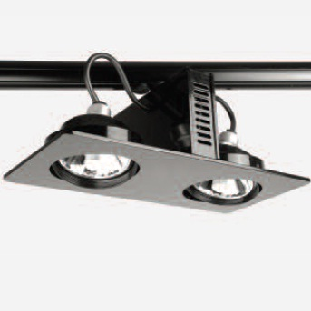 Tandem luminaire Surface/Rail orientable 2x35W Gx8,5 HIT R 111