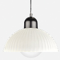 Serie 7000 Lámpara Colgante ø30,5cm E27 PL E Globe 23w Aluminio y Vidrio Prismático
