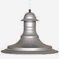 Serie 7000 Pendant Lamp ø36,8cm E27 PL E Globe 23w Aluminium
