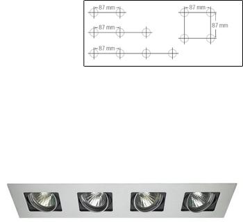 CLIFF square recessed 4xQR CB 50W white