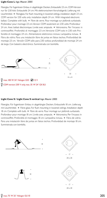 Light cone s 18 cm