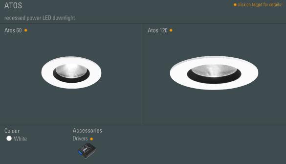 Atos 60 LED 1x7W/830 40° max 700mA