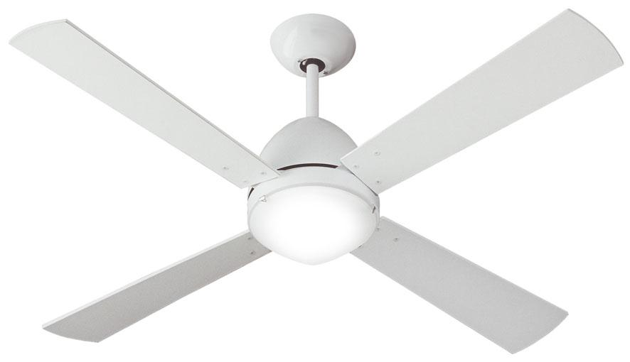 Scirocco Fan with light ø105cm 4 blades white s – white