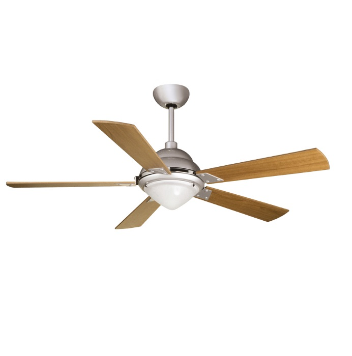 Maestrale Fan 128cm with light R7s 150W 5 blades cherry with remote - Grey