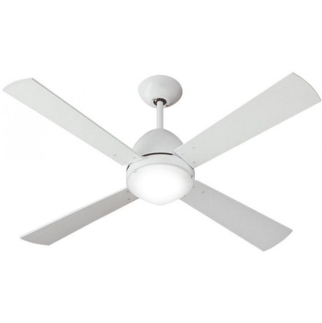 Scirocco Fan 122cm with light R7s 150W 4 blades whites with remote - white