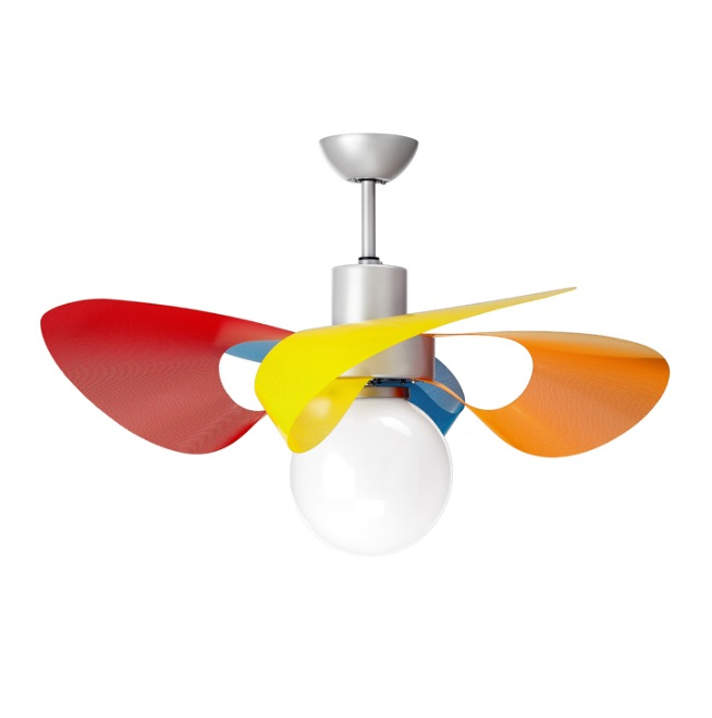 Soffio ECO Fan 100cm light 32w 4 blades multicolour with remote - Grey