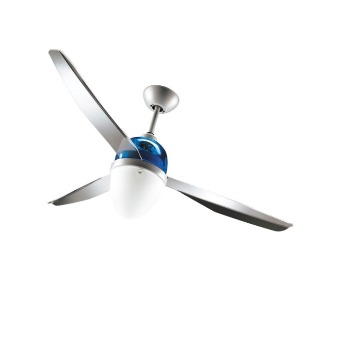 Swing ECO Ventilador 127cm luz 25w 3 aspas Transparentes con mando - gris/Azul