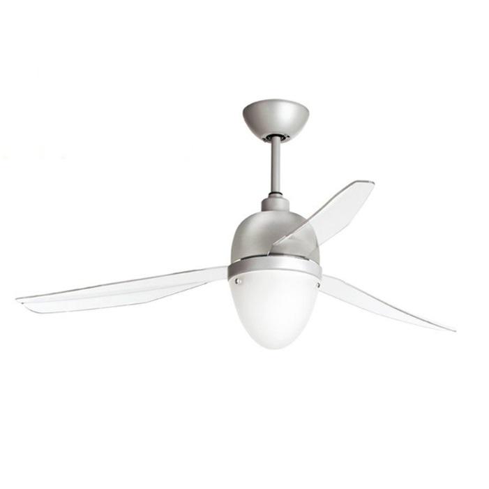 Swing Ventilador 127cm luz LED 17w 3 aspas Transparente sin mando - gris/blanco