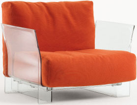 Pop sofa Fabric Trevira Structure Transparent 1 plaza