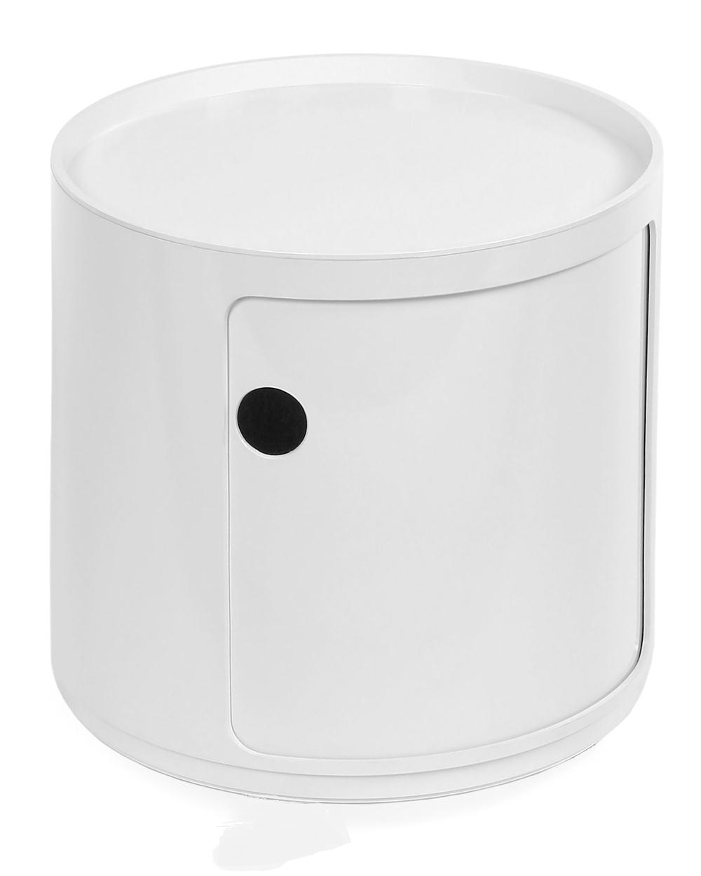 Componibili Round Unit with door 38,5cm White