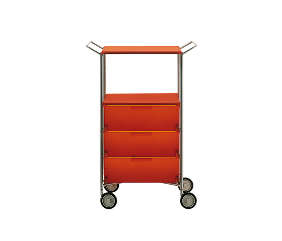 Mobil container with wheels and handles 4 drawers 67x82cm