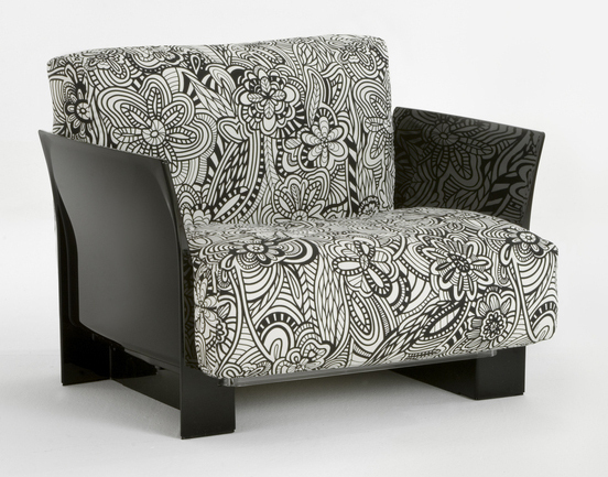Pop sofa modular black structure 1 plaza