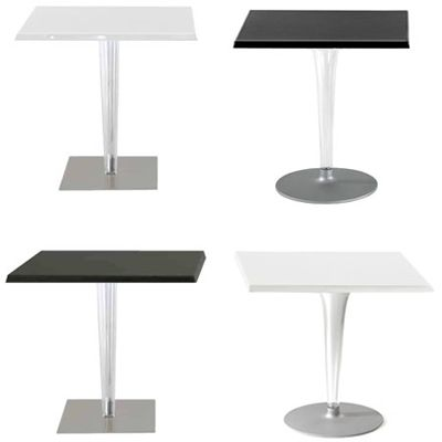 TopTop table colour Shiny with leg square en table square 70x70cm