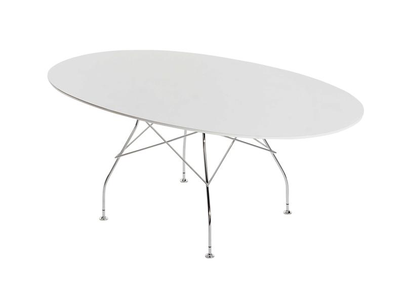 Glossy mesa Ovalada 194x120cm poliester
