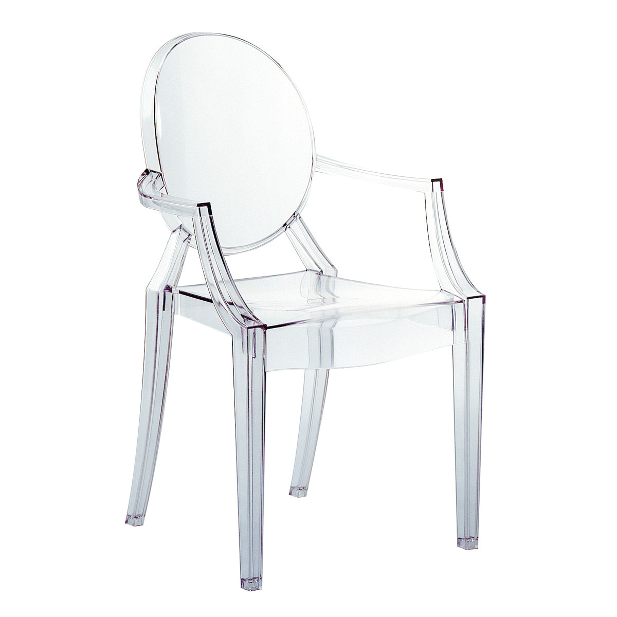 Louis Ghost chair Glass with test of reacción al fuego (4 units packaging)