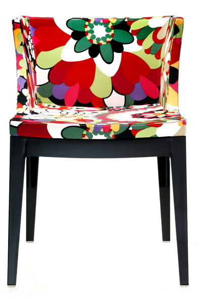 Mademoiselle Chair Structure Black Missoni fabric
