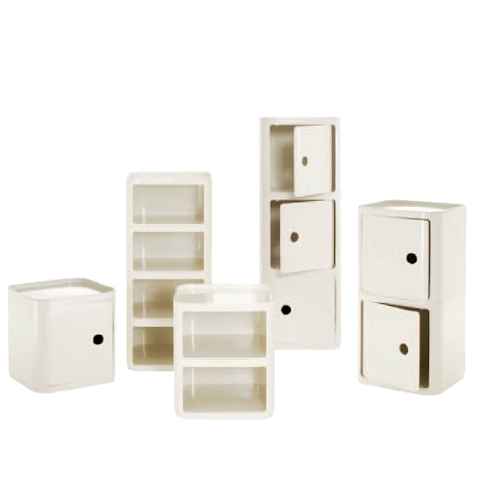Componibili Square Unit without door 23,5cm White