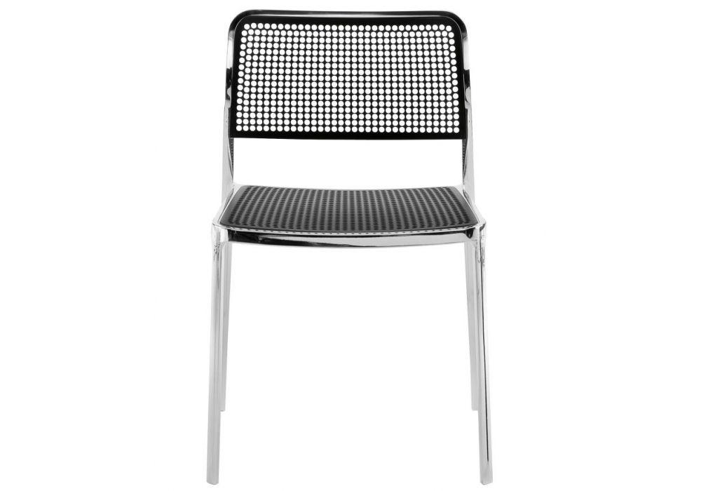 Audrey Shiny chair without arms Aluminium Shiny indoor/outdoor (2 units packaging)