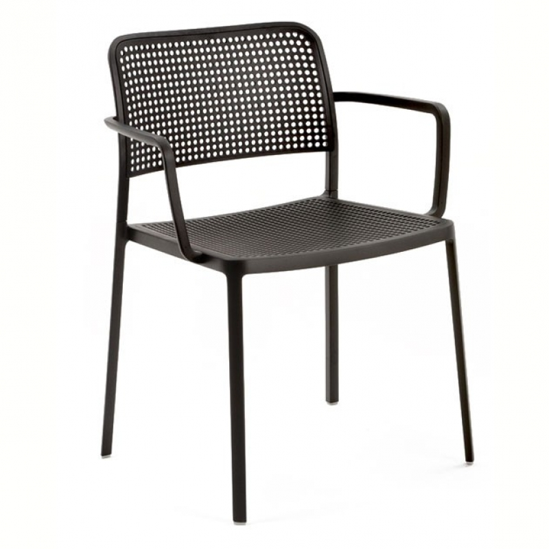 Audrey chair with arms Aluminium varnished (2 units packaging)