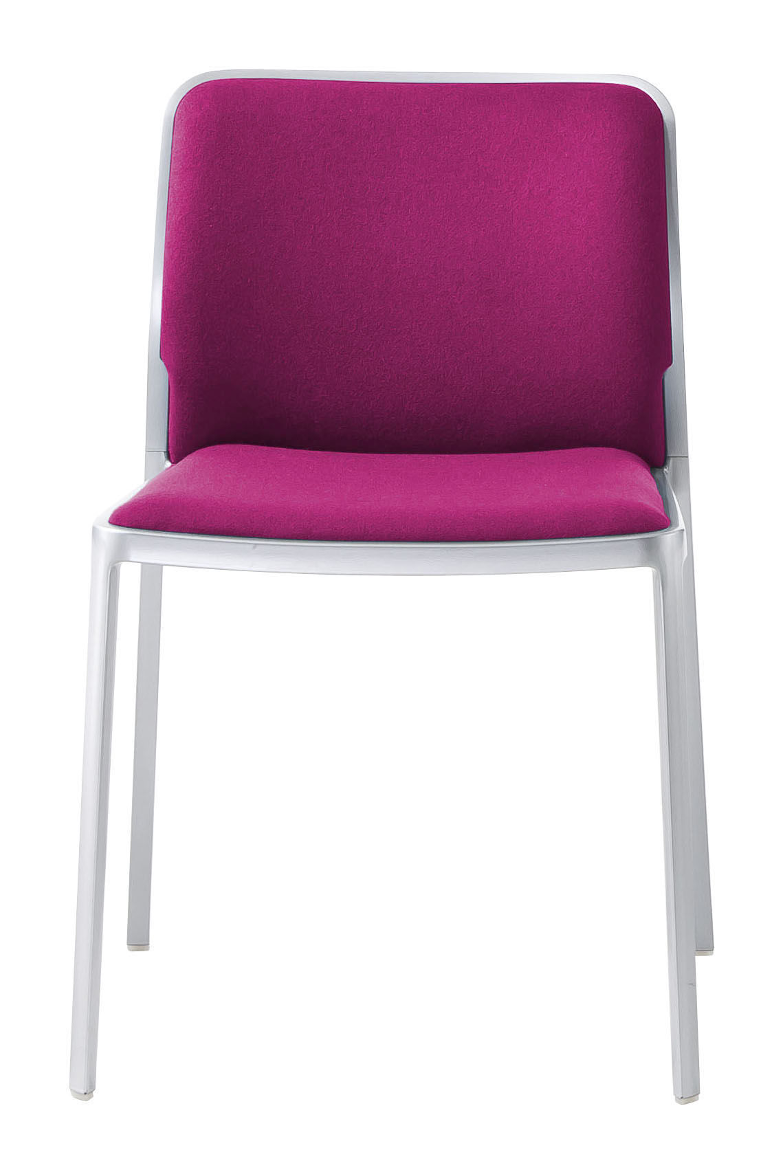 Audrey Soft chair without arms Aluminium Shiny (2 units packaging) Fabric Trevira