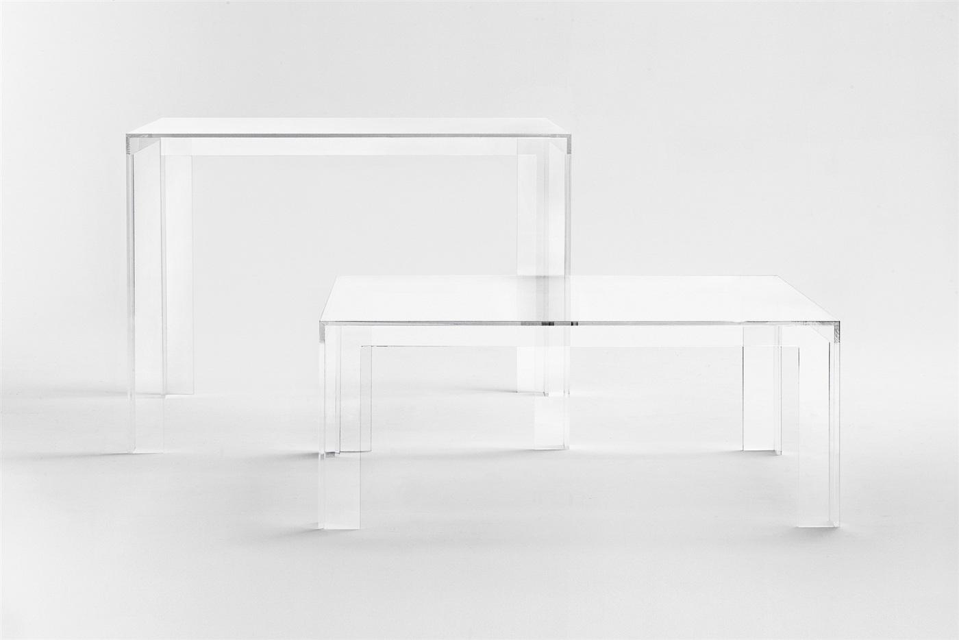 Invisible mesa cuadrada 72cm