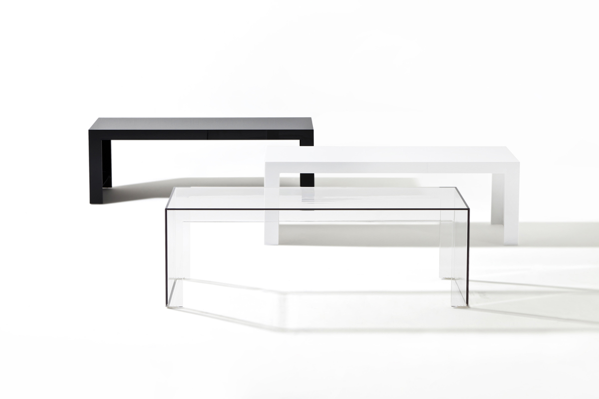 Invisible Side table rectangular 40cm