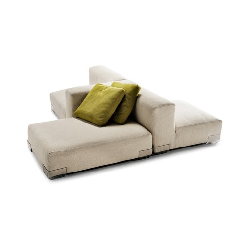 Plastics Duo Sofa with right arm 88x64cm