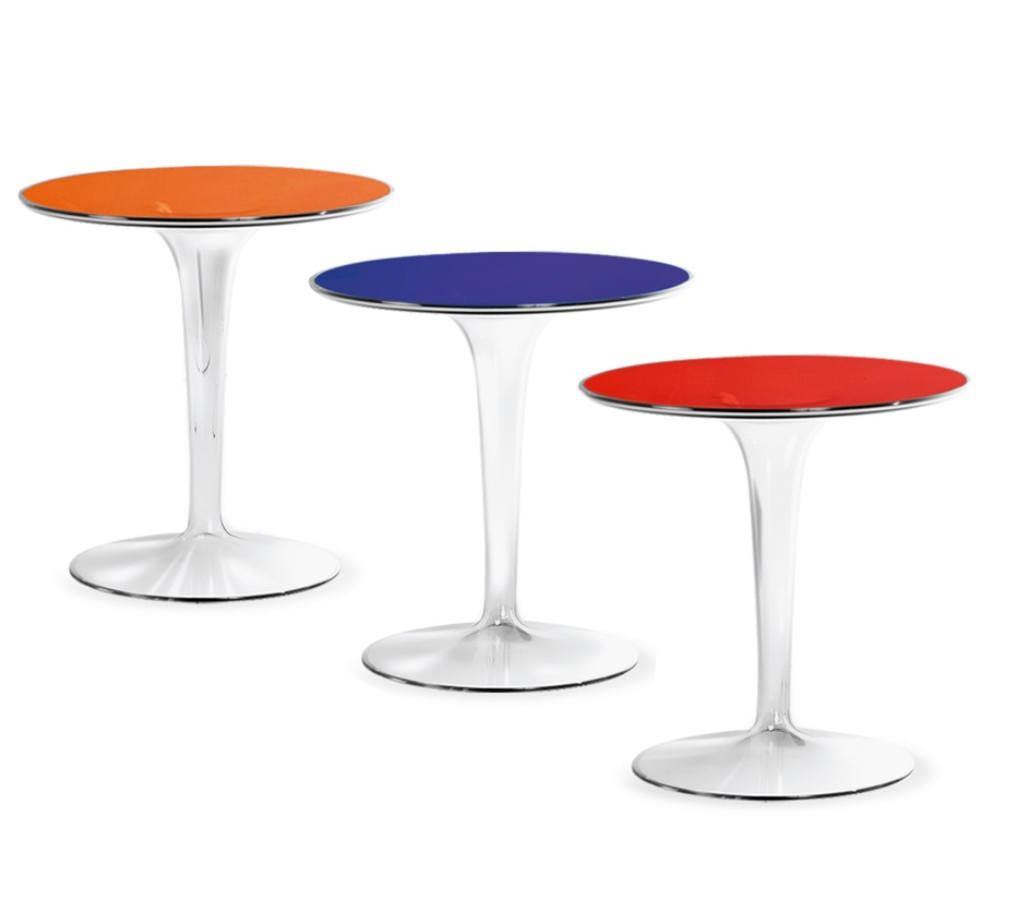 TipTop table auxiliaire ø48cm Transparent/Opaco
