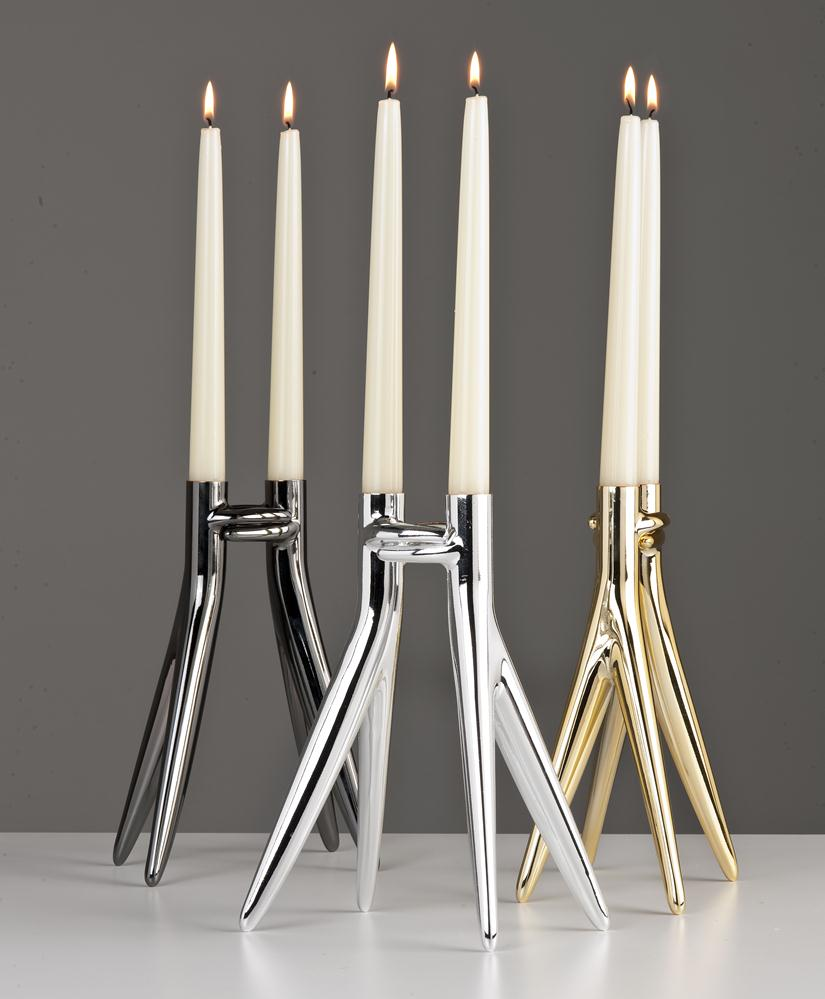 Abbracciaio Candelabrum 25cm (Packaging of 4 units) Bright Gold
