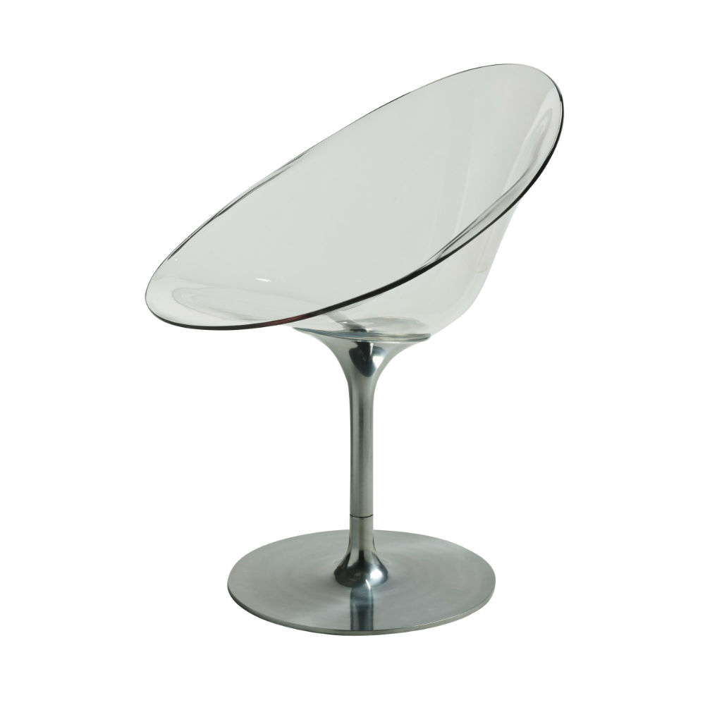 Eros chair with base giratoria Aluminium Shiny