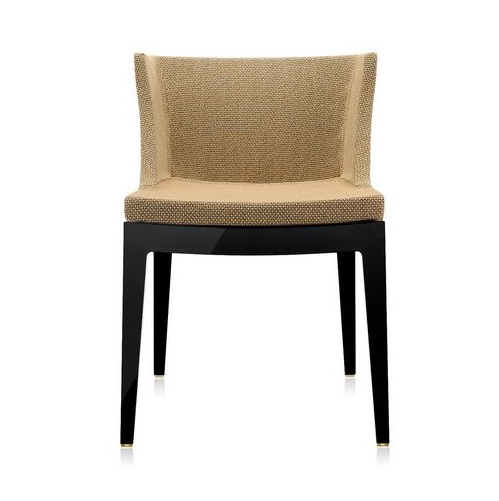 Mademoiselle chair black structure Fabric rafia