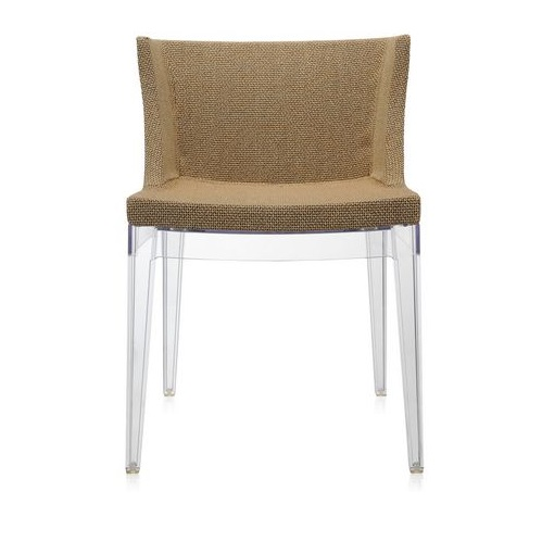 Mademoiselle chair Structure Transparent Fabric rafia