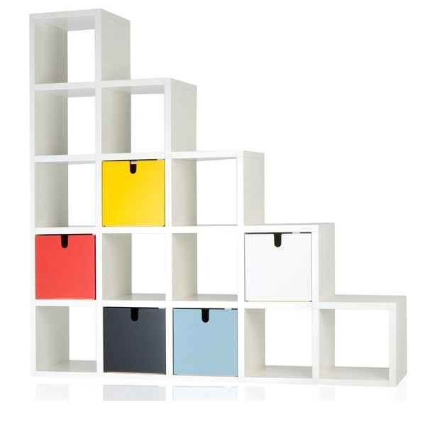 Polvara modularee Bücherregal 196x196cm
