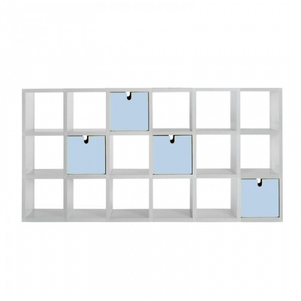 Polvara modularee Bücherregal 196x80,5cm