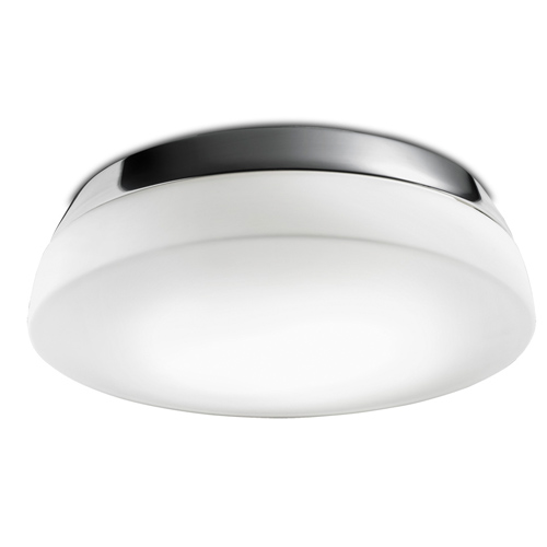 Dec ceiling lamp 35x11,5cm 2xPL E E27 20w Chrome Glass opal Mate