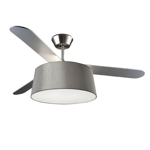 Belmont Fan with light 132cm 3xE27 18w (without lampshade) Ní­quel Satin