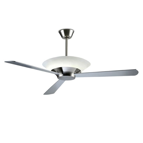 Toronto Fan with light ø132cm 2Gx13 55w Nickel Satin