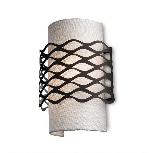 Alsalcia Wandleuchte 21,7x30cm 2xE27 PL E 23w Braun Oxide