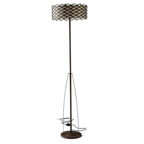 Alsacia lámpara de Pie ø45x160cm 3xE27 PL E 23w Marrón Óxido