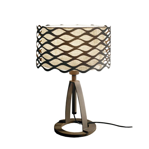 Alsacia Table Lamp Doble arm 30x44cm E27 PL E 23w Brown Oxide