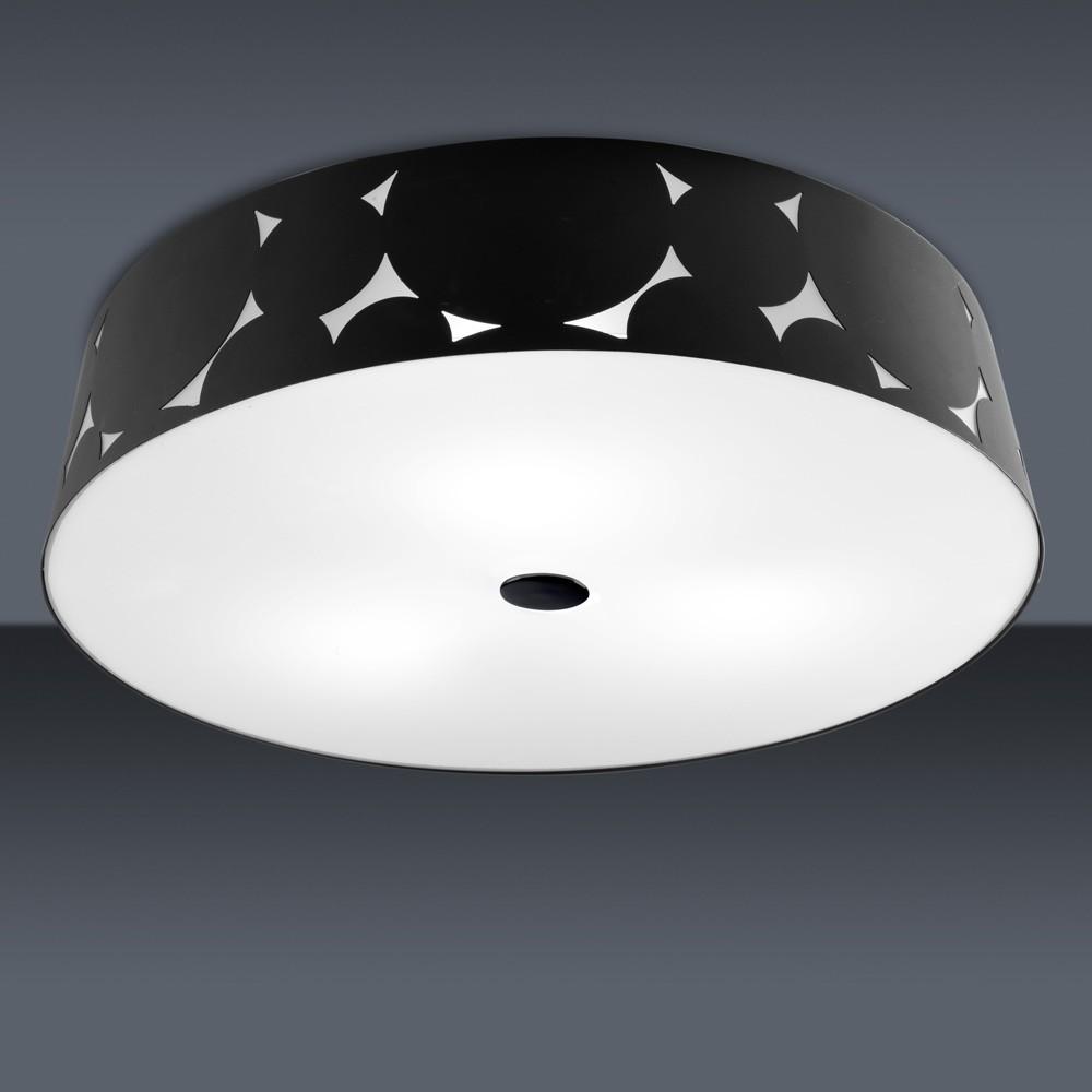 Trama ceiling lamp ø50x12,1cm 3xPL E E27 23w Black