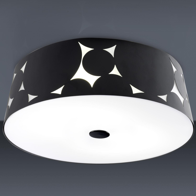 Trama ceiling lamp ø36,5x12,1cm 2xPL E E27 20w Black
