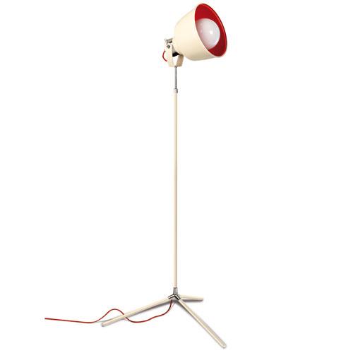 Vintage lámpara de Pie 166cm E27 Cromo blanco antiguo